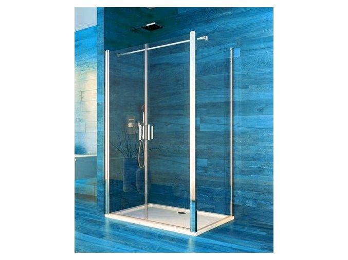Sprchový obdélníkový kout COOL 100x80x190 cm, rám chrom ALU | koupelnyross.cz