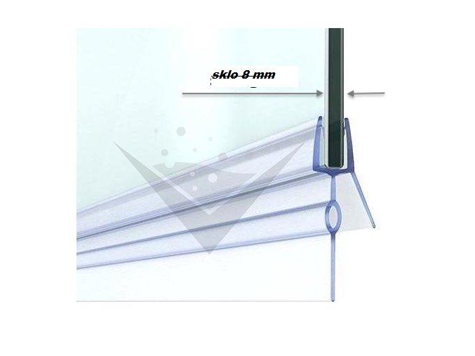 Stírací lišta silikonová spodní 100cm, na sprchové dveře 8 mm - sada 2 ks | koupelnyross.cz