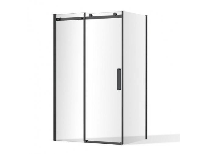 Obdélníkový sprchový kout Nero Lux 1200x800 mm, posuvné dveře   koupelnyross.cz