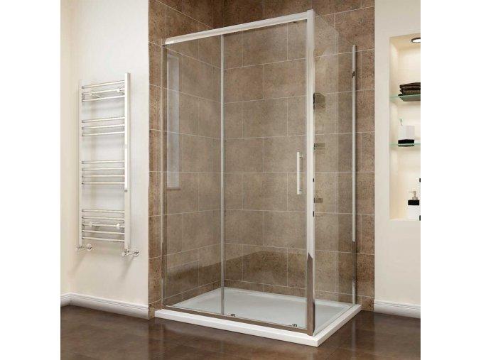 Comfort KOMBI - obdélníkový sprchový kout 100x80 cm | koupelnyross.cz