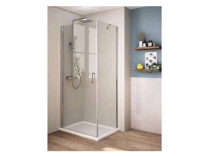 Perfekt 80x80 cm - čtvercová sprchová zástěna   koupelnyross.cz