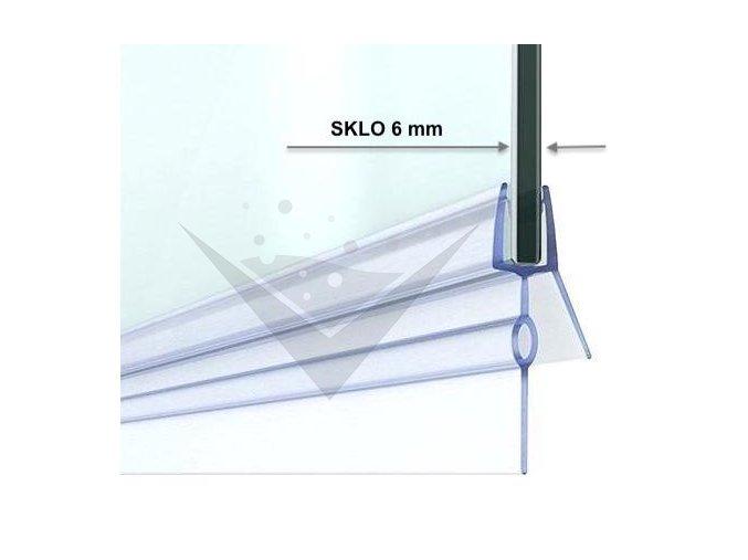 Stírací lišta silikonová spodní 50cm, na sprchové dveře 6 mm - sada 2 ks | koupelnyross.cz