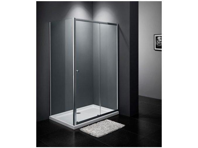 RELAX KOMBI - obdélníkový sprchový kout 110x80 cm, čiré sklo 6 mm |  koupelnyross.cz
