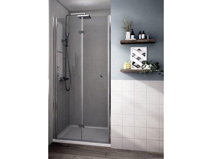 MISTRAL 90 - zalamovací sprchové dveře do niky 86-91 cm   koupelnyross.cz