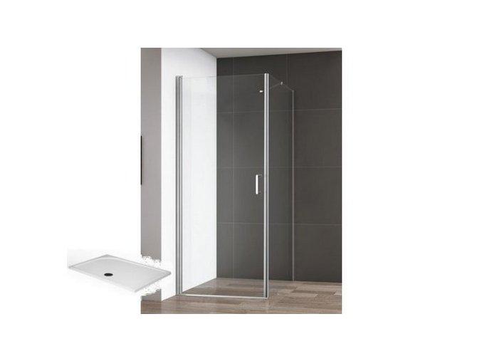 Atlanta 100x80 - obdélníkový sprchový kout, čiré sklo 6 mm s vaničkou | koupelnyross.cz