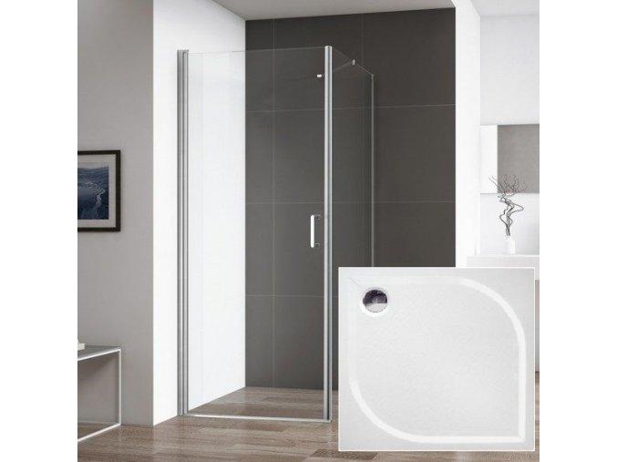 Atlanta 80x80 - čtvercový sprchový kout s vaničkou z litého mramoru | koupelnyross.cz