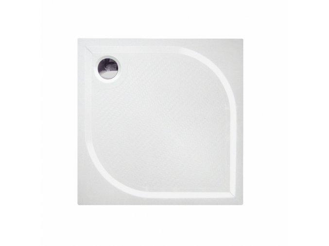 Čtvercová sprchová vanička KC80 z litého mramoru 80x80 cm | koupelnyross.cz