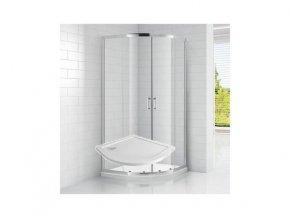 Čtvrtkruhový sprchový kout ROSS SMC 90x90 cm s vaničkou | koupelnyross.cz