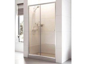 Posuvné sprchové dveře ROSS Relax 115 pro niku 111 až 116 cm, čiré sklo 6 mm | koupelnyross.cz