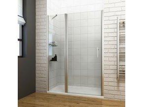 ROSS Luxury 110x190 cm -  jednokřídlé sprchové dveře 106,5-111,5 cm | koupelnyross.cz