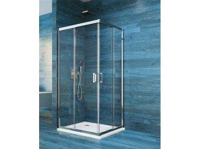 Sprchová čtvercová zástěna COOL 80 cm,rám chrom ALU | koupelnyross.cz
