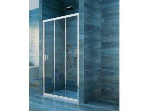 Sprchové trojdílné posuvné dveře COOL 90 cm | koupelnyross.cz