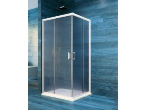 Sprchový čtvercový kout COOL 90 cm, bílý ALU | koupelnyross.cz