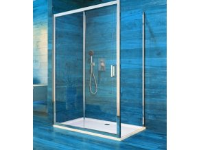 Sprchový čtvercový kout COOL 100x100 cm, rám chrom ALU | koupelnyross.cz