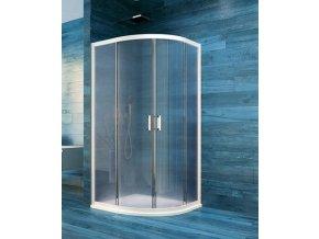 Sprchový čtvrtkruhový kout COOL 90 cm, bílý ALU rám | koupelnyross.cz