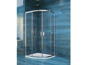 Sprchový čtvrtkruhový kout COOL čtvrtkruh 100 cm, rám chrom ALU | koupelnyross.cz