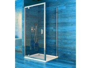 Sprchový jednokřídlý čtvercový kout COOL 100x100x190 cm, rám chrom ALU | koupelnyross.cz