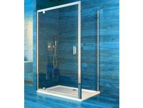 Sprchový jednokřídlý obdélníkový kout COOL100x90 cm, rám chrom ALU | koupelnyross.cz