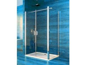 Sprchový obdélníkový kout COOL 120x100x190 cm, rám chrom ALU | koupelnyross.cz