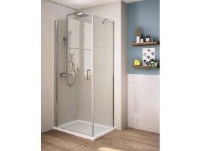 Perfekt 80x80 cm - čtvercová sprchová zástěna | koupelnyross.cz