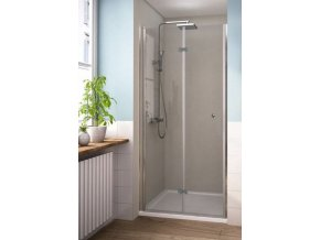 MISTRAL 90 - zalamovací sprchové dveře do niky 86-91 cm | koupelnyross.cz