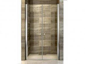 Komfort T2 130 - sprchové dvoukřídlé dveře 126-131 cm   koupelnyross.cz