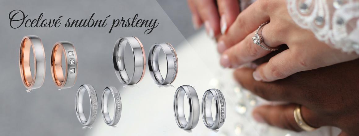 Ocelové snubní prsteny