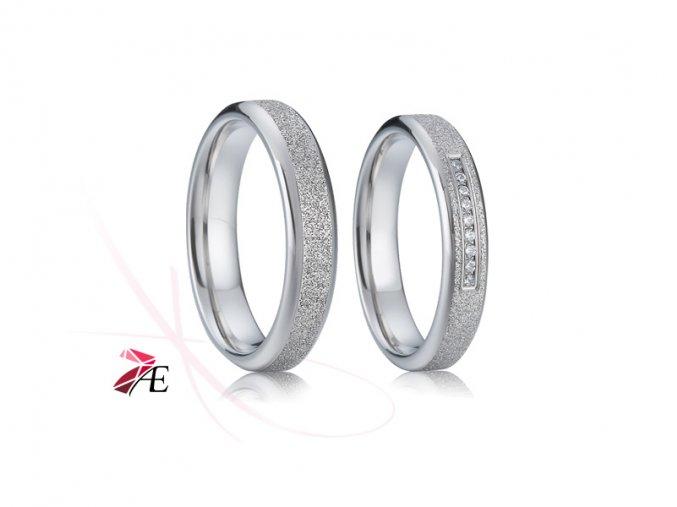 Ocelové snubní prsteny - 003 - Miroslav a Krasomila