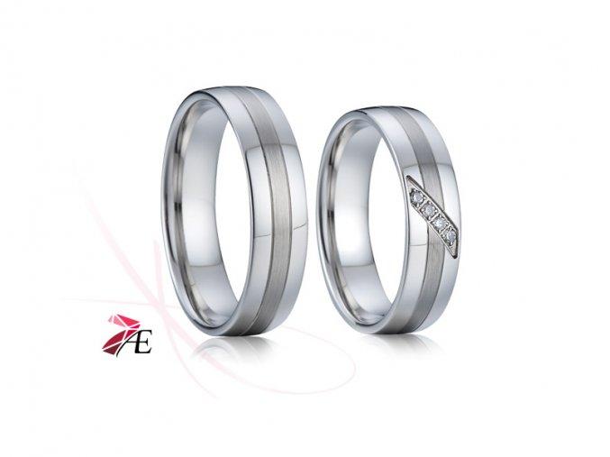 Ocelové snubní prsteny - 004 - Charles a Diana