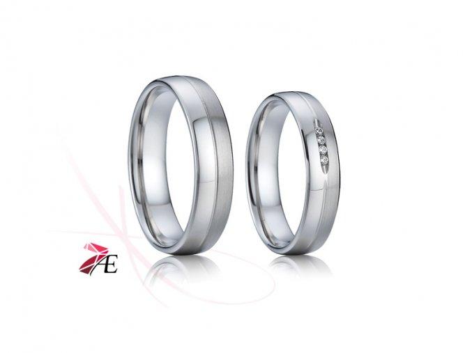 Ocelové snubní prsteny - 011 - Jack a Rose