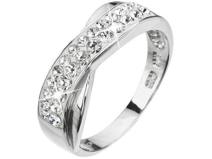 Prsten se Swarovski Elements 35041.1 KRYSTAL