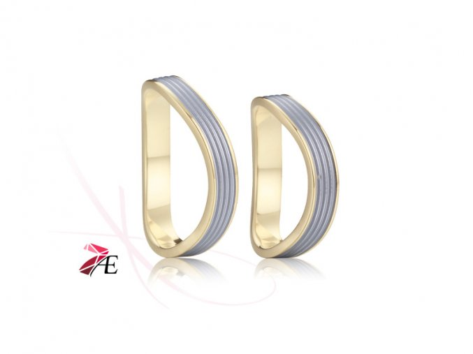 Ocelové snubní prsteny - 029 - Oidipus a Iokasté