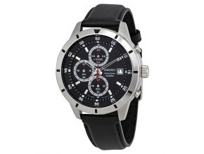 seiko chronograph black dial men s watch sks571