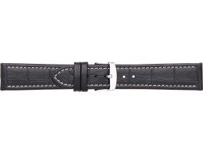Černý kožený prodloužený řemínek Condor 308L.01