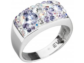 Prsten se Swarovski Elements 35014.3 violet