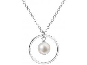 Stříbrný perlový náhrdelník 22018.1