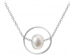 Stříbrný perlový náhrdelník 22019.1