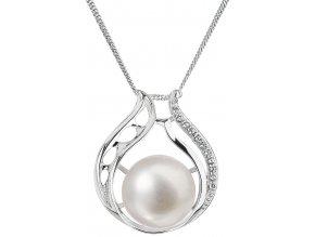 Stříbrný perlový náhrdelník 22011.1