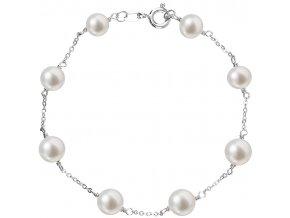 Stříbrný perlový náramek 23008.1