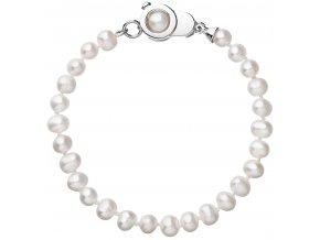 Stříbrný perlový náramek 23006.1