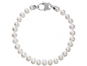 Stříbrný perlový náramek 23002.3