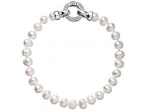 Stříbrný perlový náramek 23001.1