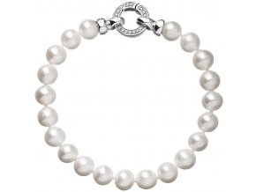 Stříbrný perlový náramek 23003.1