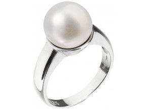 Stříbrný perlový prsten 25001.1