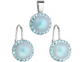 SOUPRAVA SE SWAROVSKI ELEMENTS 39091.3 LIGHT BLUE
