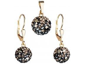 Zlatá sada šperků s krystaly Swarovski 939072.4 colorado