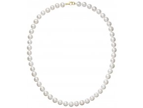 Perlový náhrdelník bílý z pravých říčních perel se zlatým zapínáním 922003.1