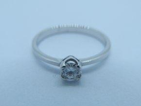 Zlatý prsten bílý s briliantem (1)