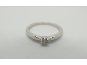 zlatý prsten s briliantem 1