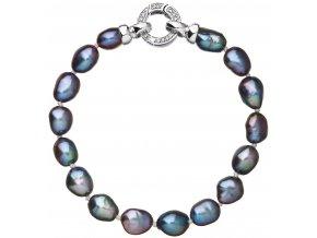 Stříbrný perlový náramek 23011.3